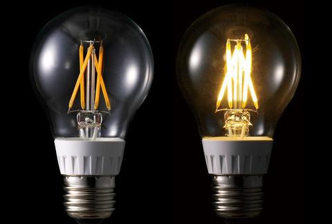 白熱電球のフィラメントを再現したLED電球