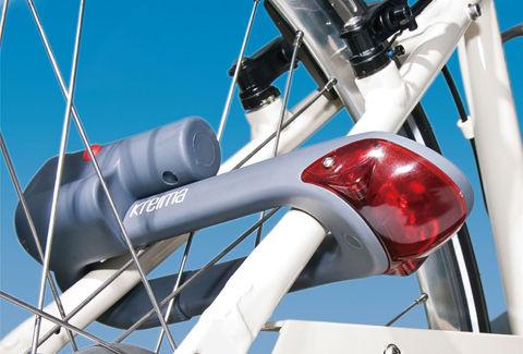 ワンタッチで変形!自転車ライト付きロックシステム:RAMA13M22