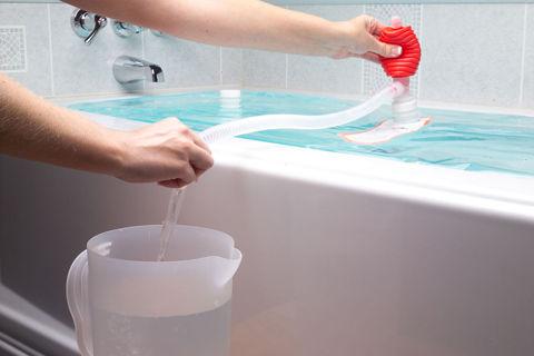 浴槽を非常用貯水タンクに変える