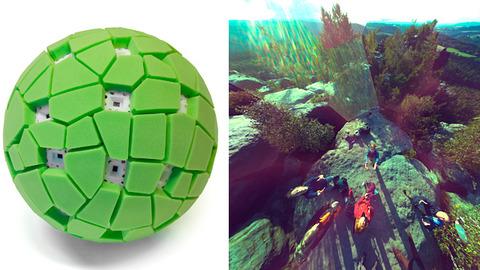 投げ撮りで 360°のパノラマ撮影