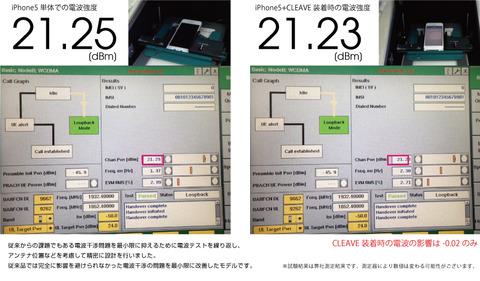 CLEAVE ALUMINUM BUMPER for iPhone5 電波テスト