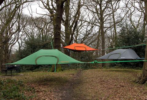 ハンモックとテントの融合