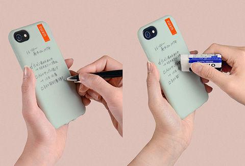 wemo ケースタイプ iPhone7,8用(ペールグリーン)