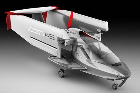 ICON A5翼を畳む