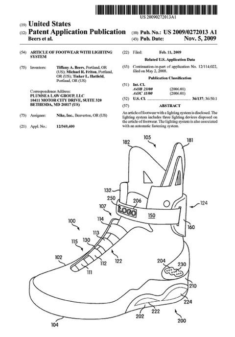 Nike Mag特許1