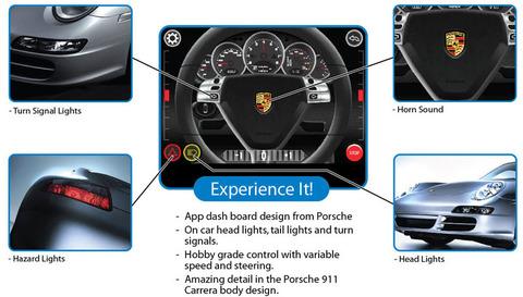 iPhoneで操縦する新型ポルシェ 911 カレラのRCカー
