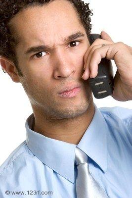 怒りの電話マン