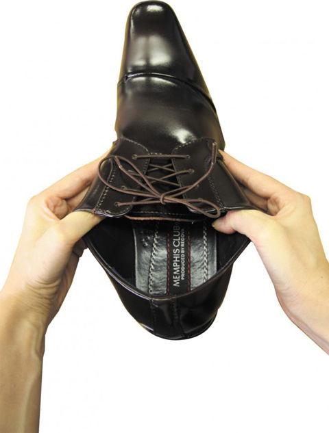 伸びる靴ひも モヒート(ビジネス)