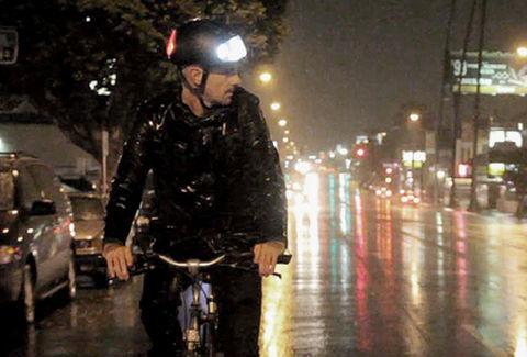 自転車用LEDヘルメット