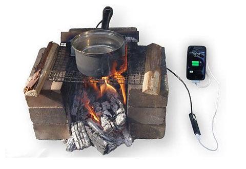 熱電発電でiPhoneを充電