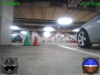 ARDrone地下駐車場
