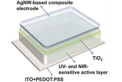 透過性ポリマーソーラーセルの構造図