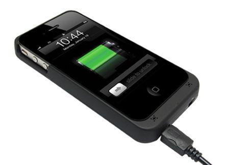 +M Battery iPhone4S FMトランスミッター付き バッテリー搭載ケース