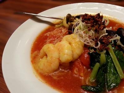 太陽のトマト麺 吉祥寺 夏ココナッツ海老トマ冷麺
