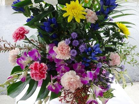 敬老会 祝い花