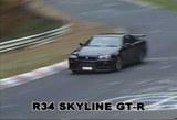 ニュルブルクリンクでのR34GT-Rスクープ