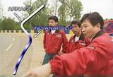 国さん、ドリドリ、飯田選手の3人でコースの下見です。