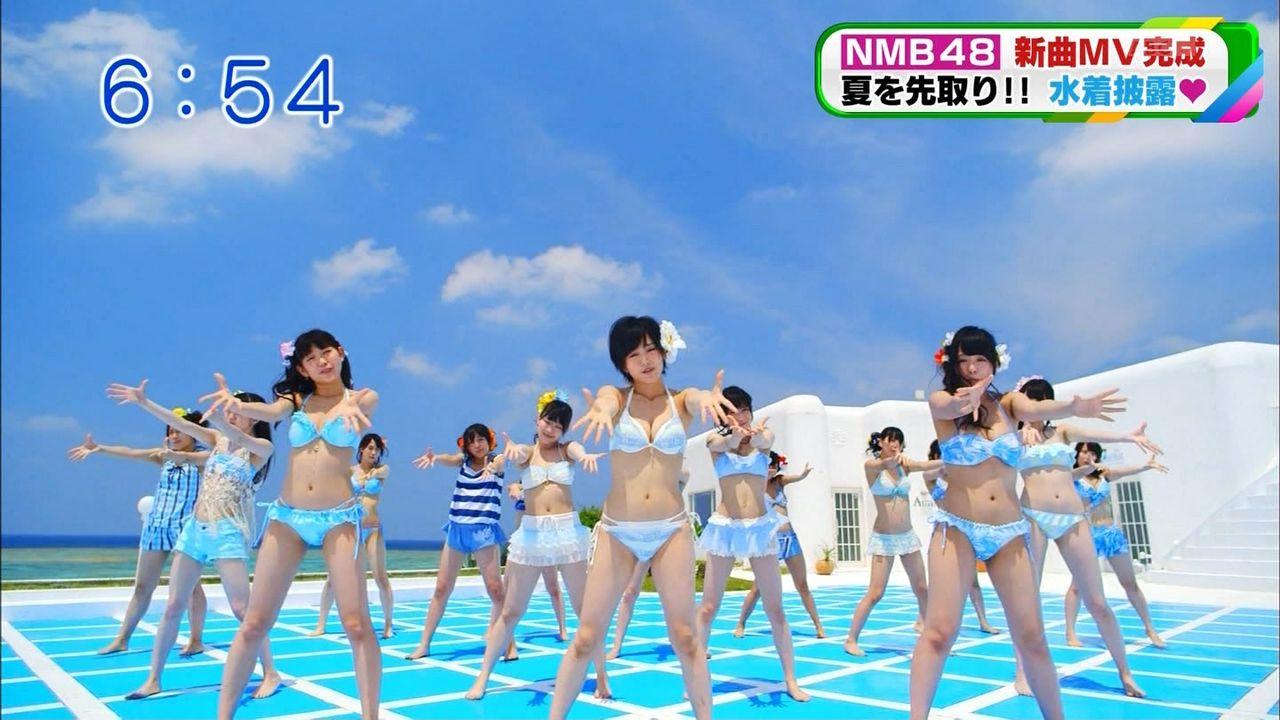 【NMB48】待望の水着ダンスMVが解禁! 13歳はショートパンツで出演