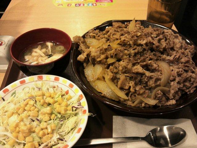 キング牛丼 ビフォー