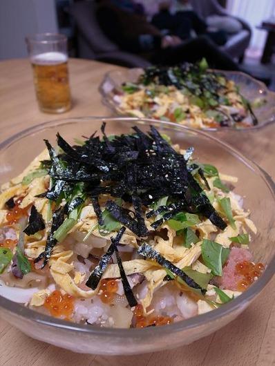 あまったお節でチラシ寿司b