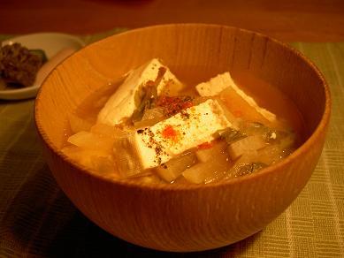 木綿豆腐のお味噌汁