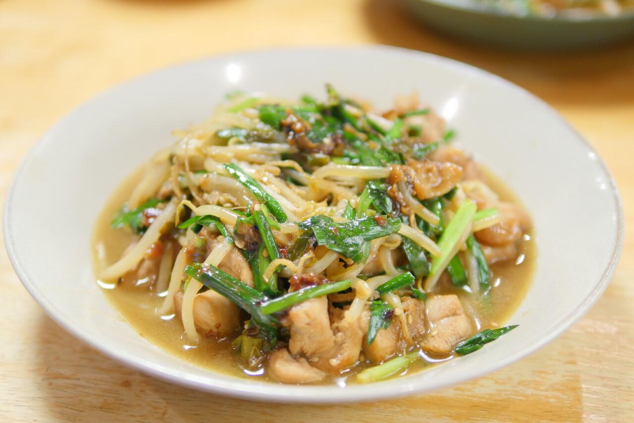 鶏ニラ炒め2