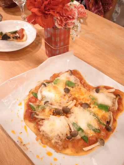 母の日のねこピザ (2)