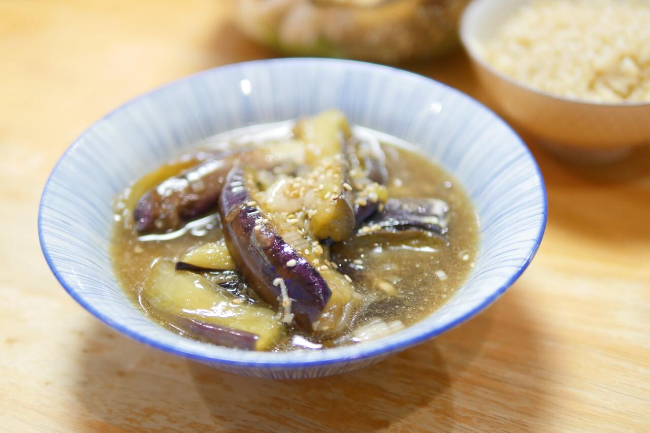 焼きナスの麺つゆ漬け