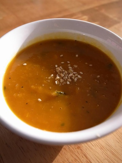 かぼちゃだけのスープb