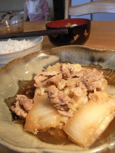 豚と白菜の即席煮物b