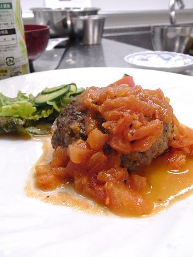 FJSトマトソースハンバーグb