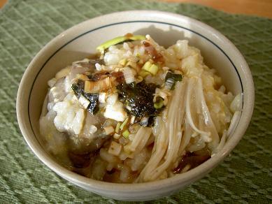 鶏レバニラ鍋雑炊