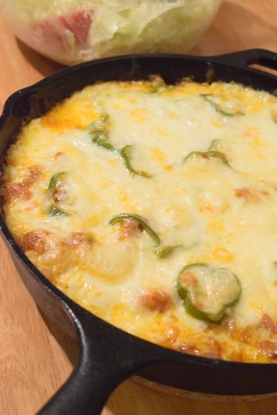 チキンライスのチーズオーブン焼き