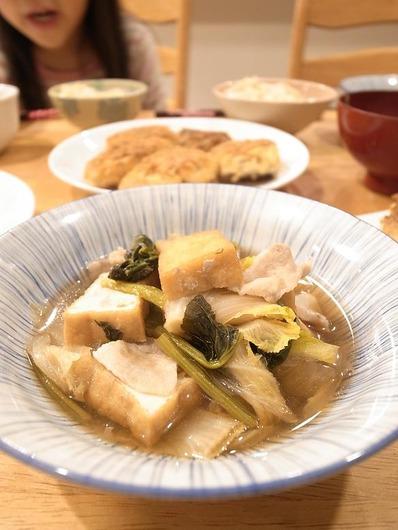 白菜と小松菜の煮物b