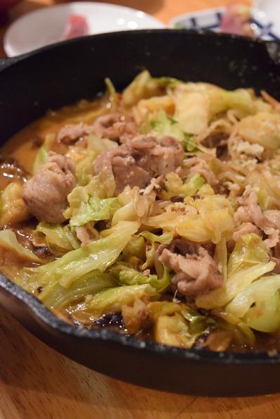 味噌豚蒸し焼き