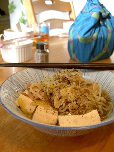 肉豆腐と黒薬味b