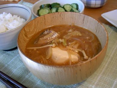 湯豆腐の〆味噌汁