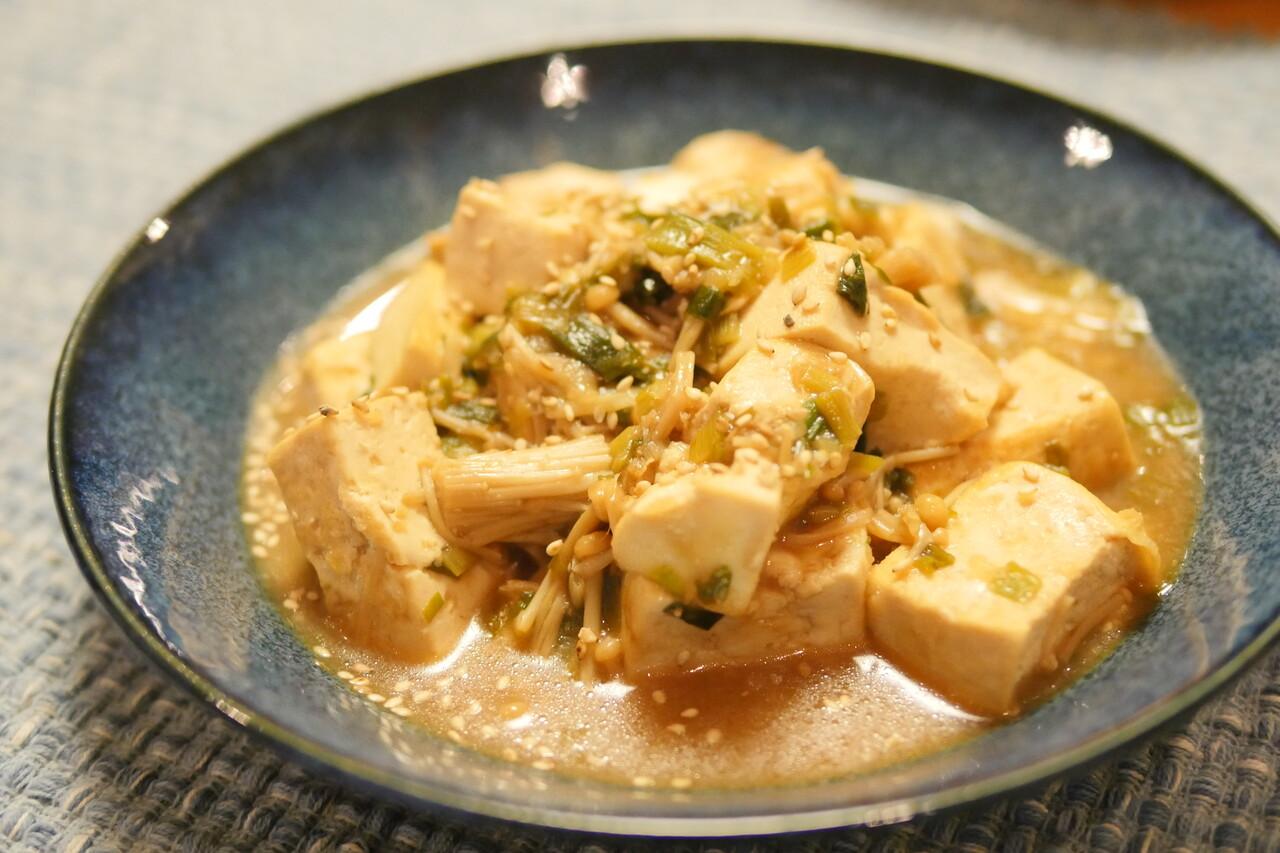 麺つゆの豆腐炒め煮