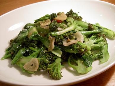 ブロッコリーと小松菜のソテー