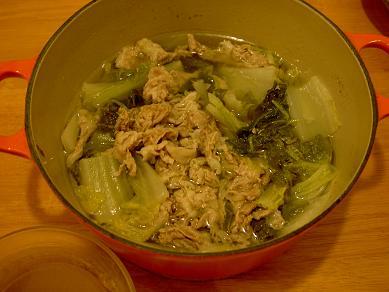白菜と豚の焼酎煮