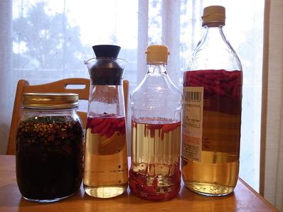 青唐辛子醤油と、からいっ酢