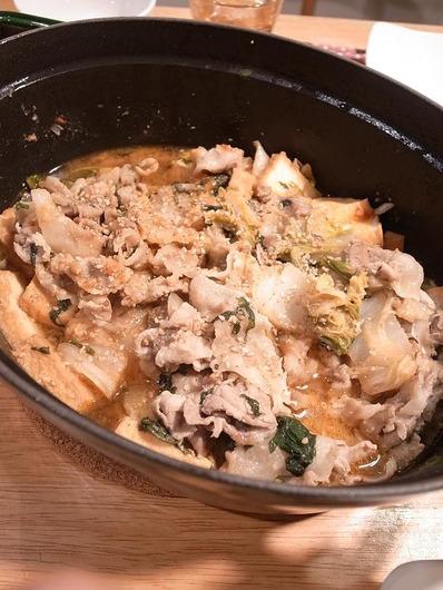 白菜と豚バラのピリ辛味噌煮b
