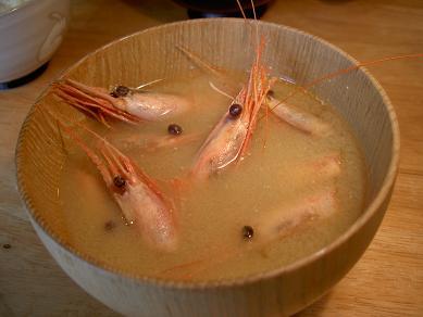 甘エビのお味噌汁