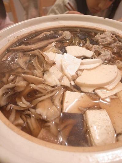 きのこ鍋withせんべいb