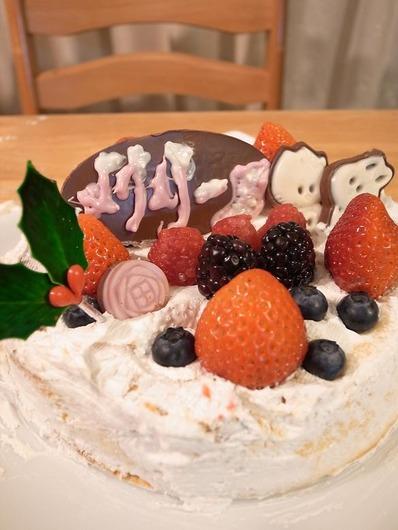 クリスマスマオケーキb