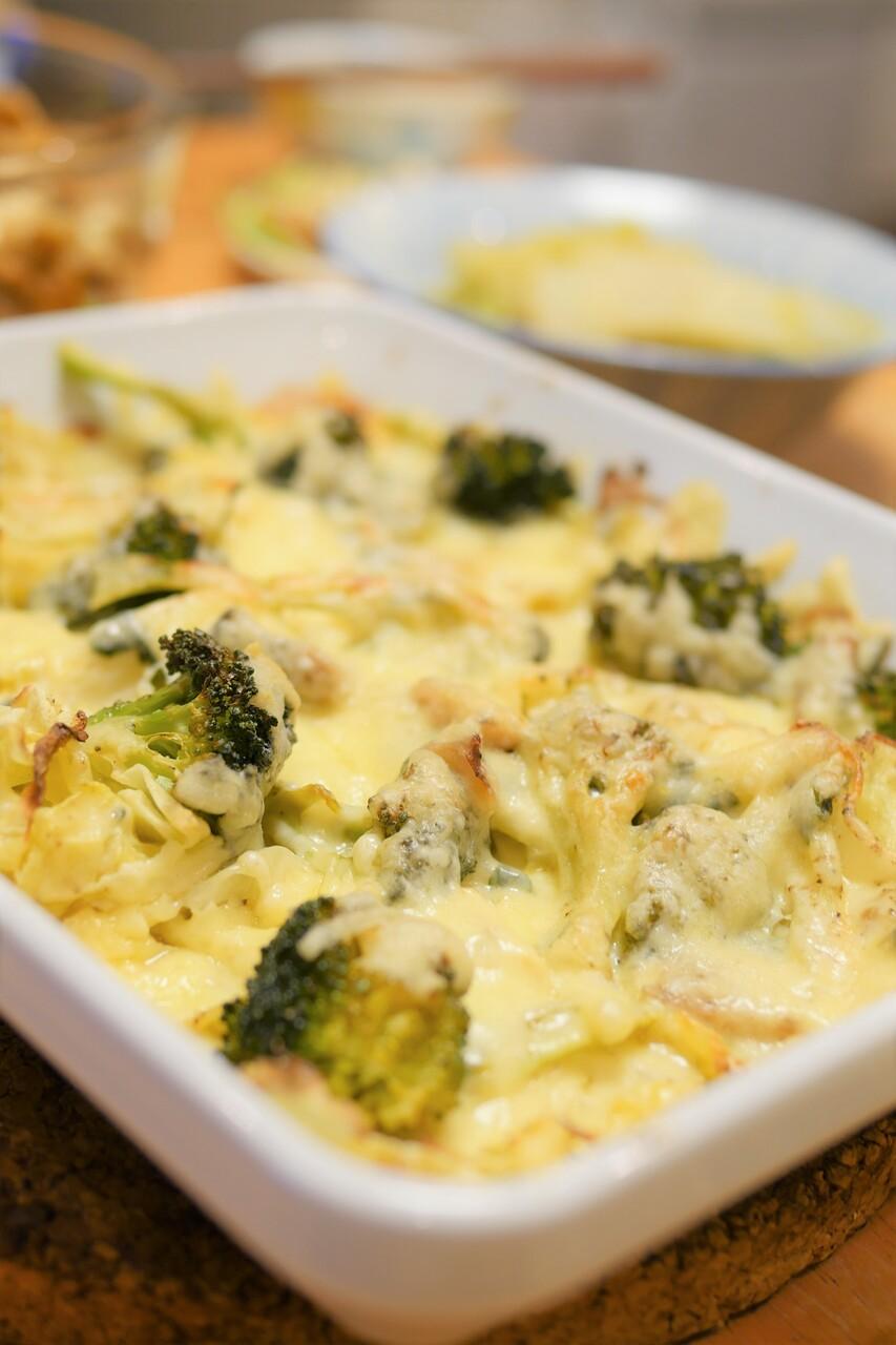 キャベツとブロッコリーのチーズグリル焼き