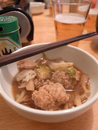 鶏団子ごぼう味噌鍋b