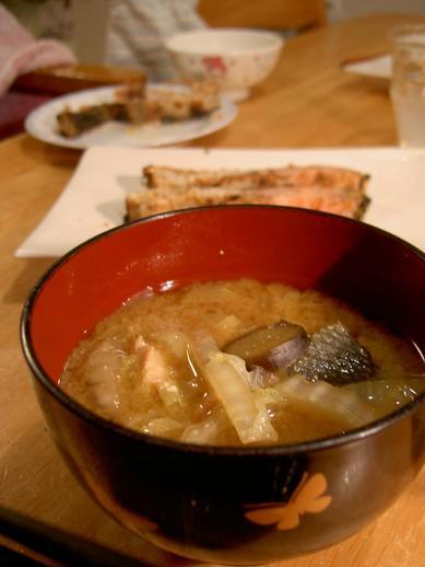 鮭のお味噌汁b