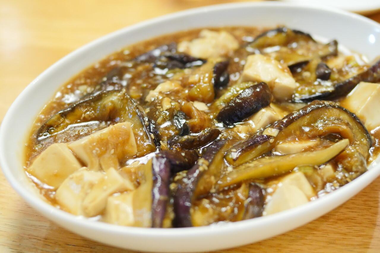 焼きナスと豆腐の餡かけ