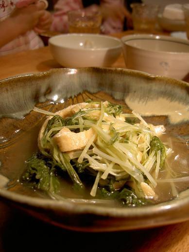 水菜とお揚げの煮びたし